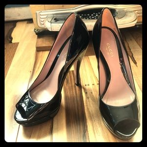 Gucci Black Patent Leather Heels
